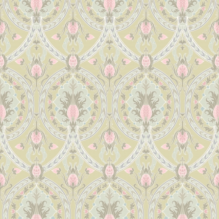 vintage color floral seamless pattern with pineapples Stock Vector - 18124395