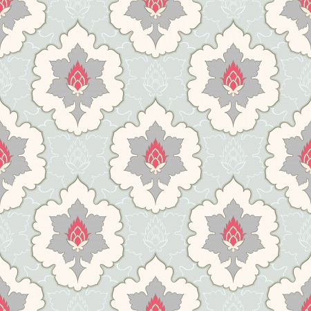 vintage gray and pink and green seamless pattern Vector