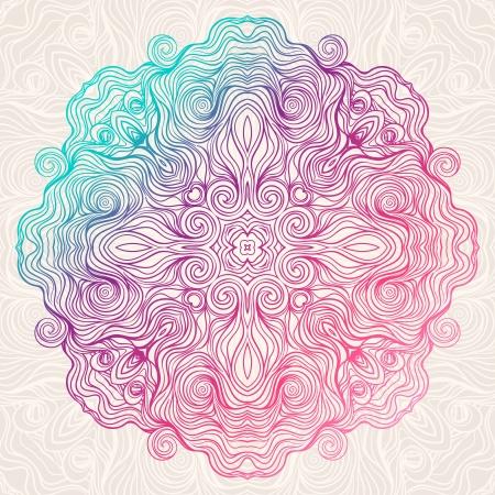 circle color pattern on beige background Illustration