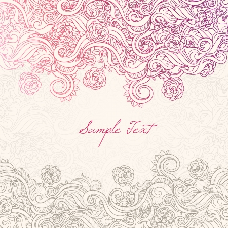 lace background: beautiful background with roses and leaves and place for text