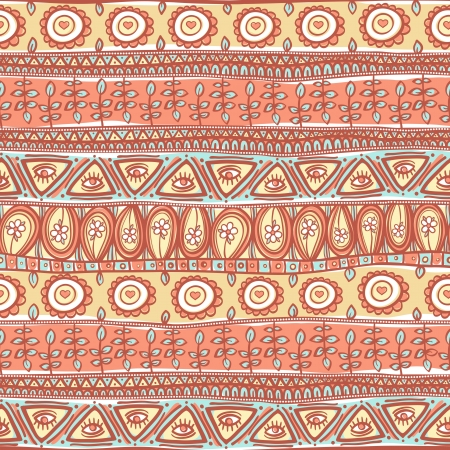 ethno: beautiful tribal striped pink and orange ornament