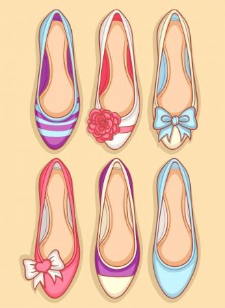 chaussure: Belle seamless avec des femmes