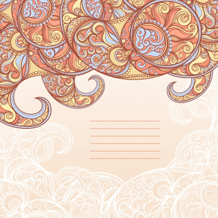 beautiful frame with paisley pattern and place for text Vector