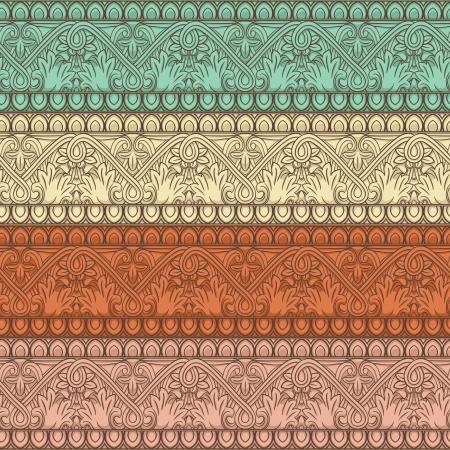 retro seamless natural striped pattern Vector