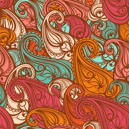 cute blue paisley pattern on a white background