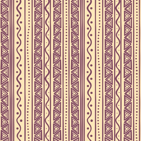 beautiful tribal striped abstract purple pattern with triangles Vector
