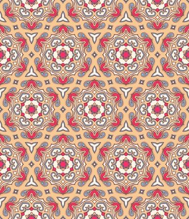 arabisch patroon: naadloze retro achtergrond met mooie natuurlijke arabische patroon Stock Illustratie