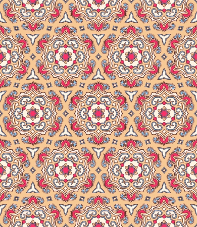 seamless retro background with beautiful natural arabic pattern Vector