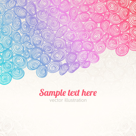 beautiful color abstract pattern with swirls and place for text Vector