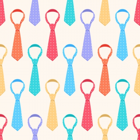 seamless background with cute colored ties Vector