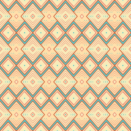 seamless geometric yellow and blue pattern with rhombus Vector
