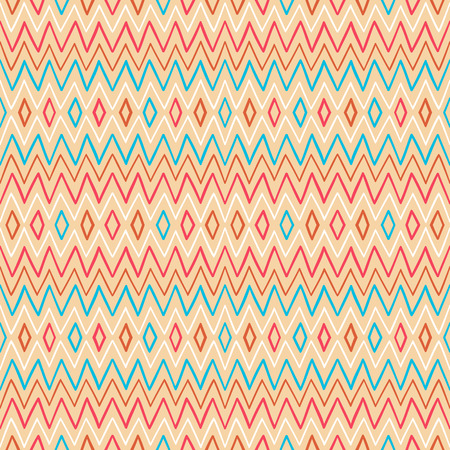 seamless geometric striped color pattern - 2 Vector