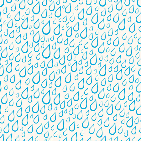 Cute seamless pattern with blue rain drops - 2 Vector