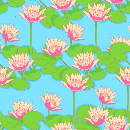 water lilies: Hermoso fondo transparente natural con nen�fares rosas