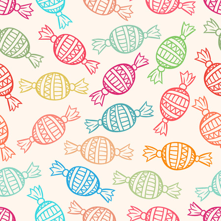 cute seamless pattern with colored candies