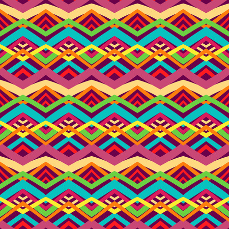 beautiful colorful striped tribal traditional pattern Vector