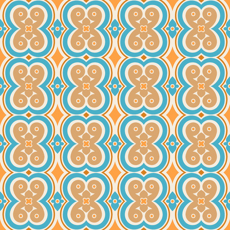 orange pattern: simple beautiful blue and orange pattern with flowers and leaves