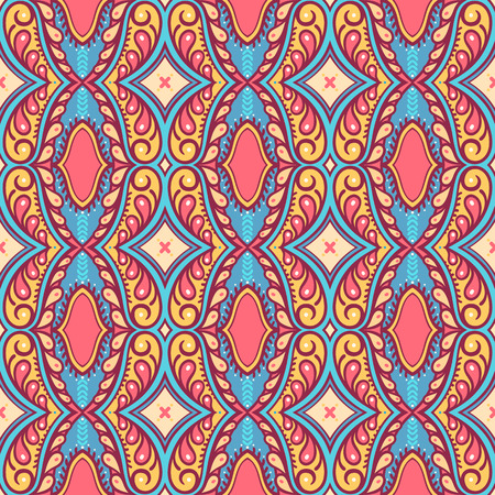 beautiful retro seamless pattern with petals and swirls Vector