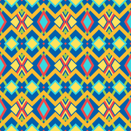 beautiful colorful geometric tribal traditional pattern Vector