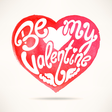 Be my Valentine. beautiful card for Valentines Day. hand-drawn illustration Illustration