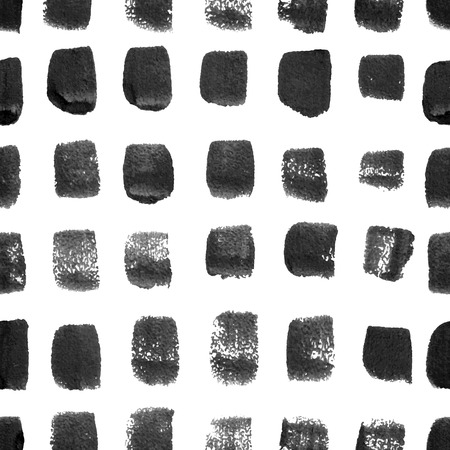 paint brush: seamless white background with black watercolor brush strokes Illustration