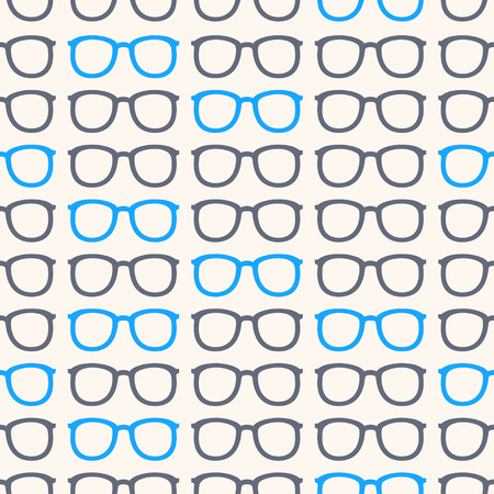 eyeglass: seamless background with gray and blue eyeglass frames