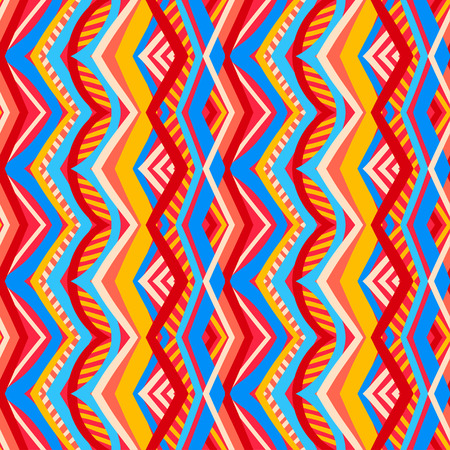 beautiful multicolored striped tribal traditional pattern Vector
