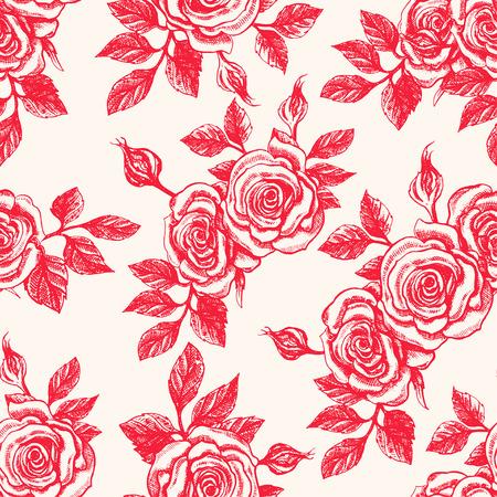 Belle transparente fond beige vintage avec des roses rouges Banque d'images - 36947613
