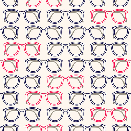 eyeglass: seamless background with gray and pink eyeglass frames