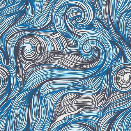viento: Papel pintado incons�til con el modelo abstracto azul y gris Vectores