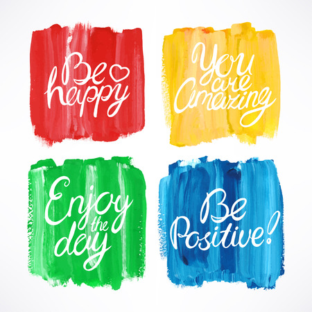 simple colorful stroke background with different motivation quotes