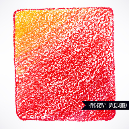 of color: pencil red and orange background. hand-drawn illustration