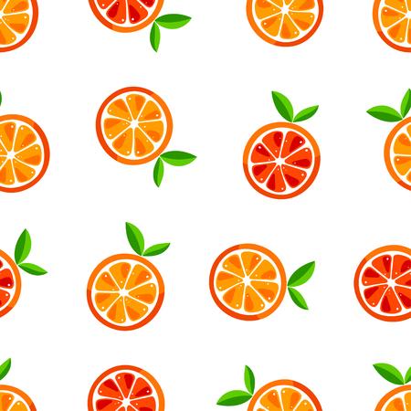Leuk naadloos patroon van sinaasappelen. Vector illustratie Vector Illustratie