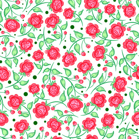 cute pattern with pink roses
