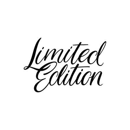 Limited edition lettering. Modern brush calligraphy. Hand drawn phrase