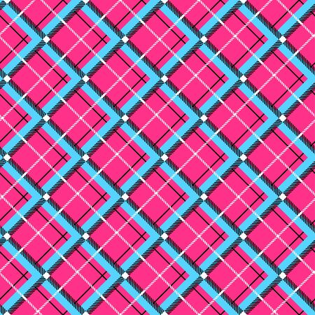 Cute seamless cage pattern. Vector illustration Vectores