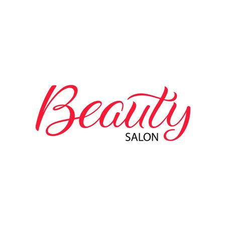 Beauty salon hand lettering. Vector calligraphy
