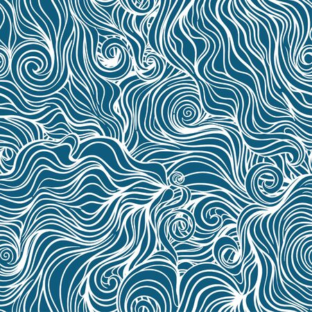 Seamless curl wave background. Vector Illustration Vector Illustratie