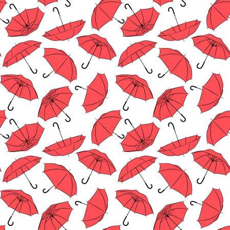 Red Umbrellas Seamless pattern