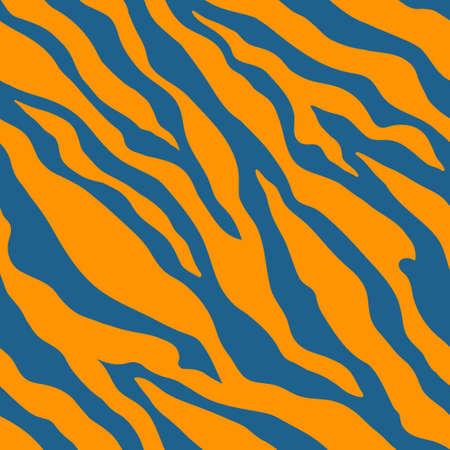Animal zebra print. Blue and orange colors. 일러스트