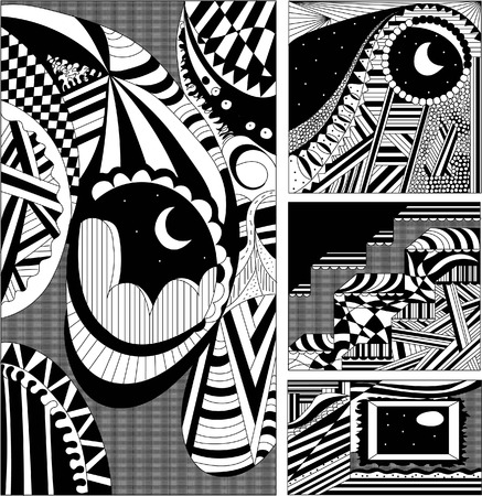 looking for: Looking for the moon Illustration