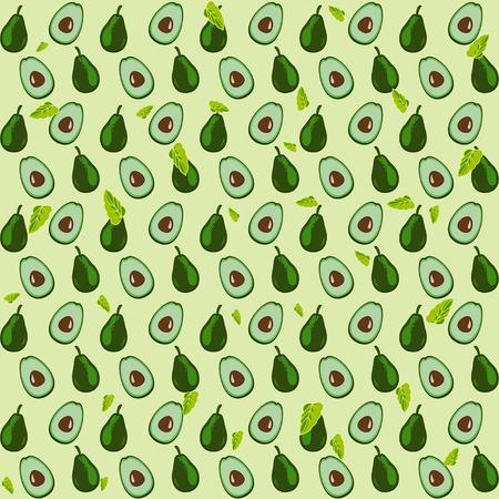 bright: avocado bright pattern background Illustration