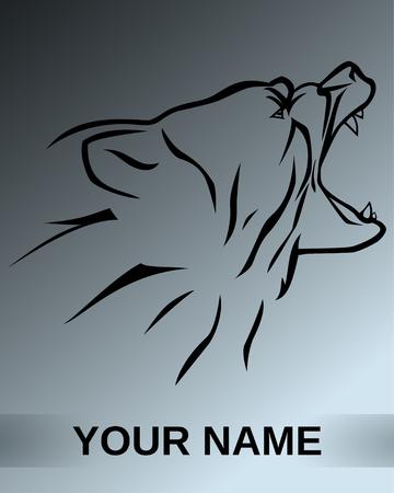 vector illustration  brown bear logotype symbol Illustration