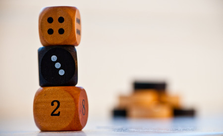doubling: Backgammon Dice and Counters