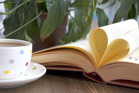 Love books and coffe Standard-Bild