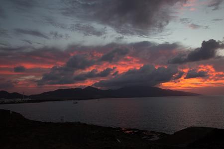 Sunrise in the south of fuerteventura