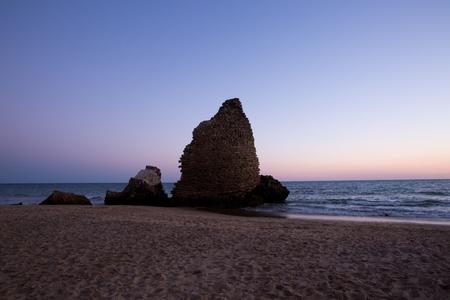Sunset at Huelva, Spain Stock Photo