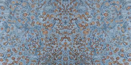 fused: slate stone texture blue orange background Stock Photo