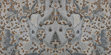 fused: slate stone texture gray orange  background Stock Photo
