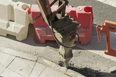 presslufthammer: gro�e Presslufthammer Maschinen Entfernen der Gehwege